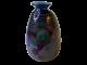 Signierte Glasvase in dezenten Farben für perfekte vintage Stilmix
