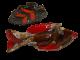Vallauris Keramik Fisch und Baumblatt , Klassiker aus Frankreich, Midcentury