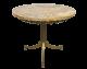 Vintage 60s Onyx Tisch Beistelltisch Messing 2Z