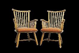 2 X Arno Lambrecht Stuhl Speichenstuhl Wk Mobel Wks Serie Hohe Lehne 2z