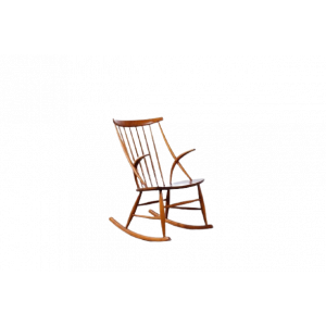 50s60s Schaukelstuhl Danish Illum Wikkelsø Mid Century Design Rocking Chair