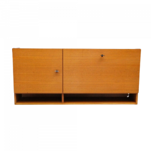 Vintage Musterring Bar Contailner Wall Unit Pepita Teak 2.AIO